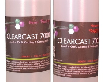 CLEARCAST 7000 - clear epoxy resin, cures shiny with a high gloss finish  - 64oz