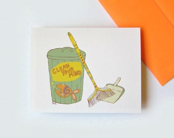 Funny friend card, Unique greeting, Encouragement Just because Friendship Cheer up card