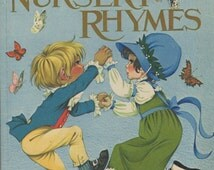 Dean's New Gift Book of Nursery Rhymes - Illustrations by Janet and Anne Grahame Johnstone- 1971