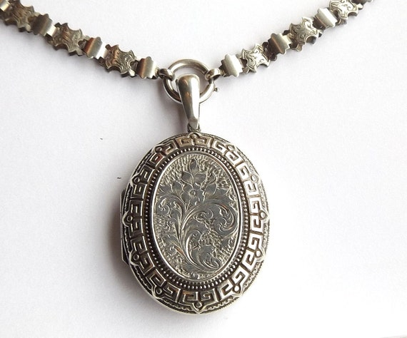 Victorian Locket And Book Chain