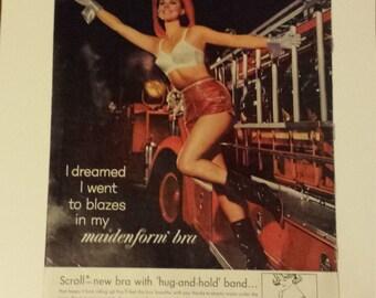 Vintage 1963 Maidenform Bra Life Magazine Ad