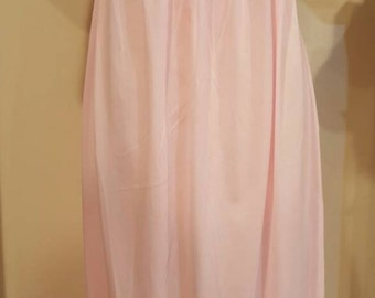 Stunning Mr. PJ Jr. by Barad 1950's Pink Maxi Goddess/Nymph Nightgown- Petite