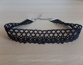 Black Lace Choker, Black Choker Necklace,Thick Black Choker, Lace Choker,Simple Black Ribbon Choker, Chokers For Women, Popular Necklace