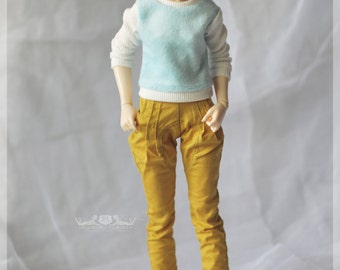 1/4 Cottoncandy Pullover in Baby Blue for Active/Moe Line Minifee or any other slim BJD of similar measurements