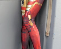 NEW! TAFI Iron Man Armor Leggings - Captain America Civil War Marvel Avengers Pants Super Hero CosPlay Print