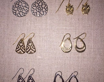 Wholesale costume earrings 100 pair mixed lot FREE SHIPPING