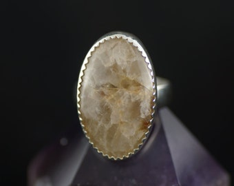 Sterling Silver Quartzite Ring Size 5