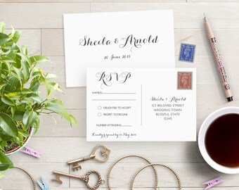 Wedding rsvp cards   Etsy