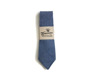 Blue Chambray Necktie