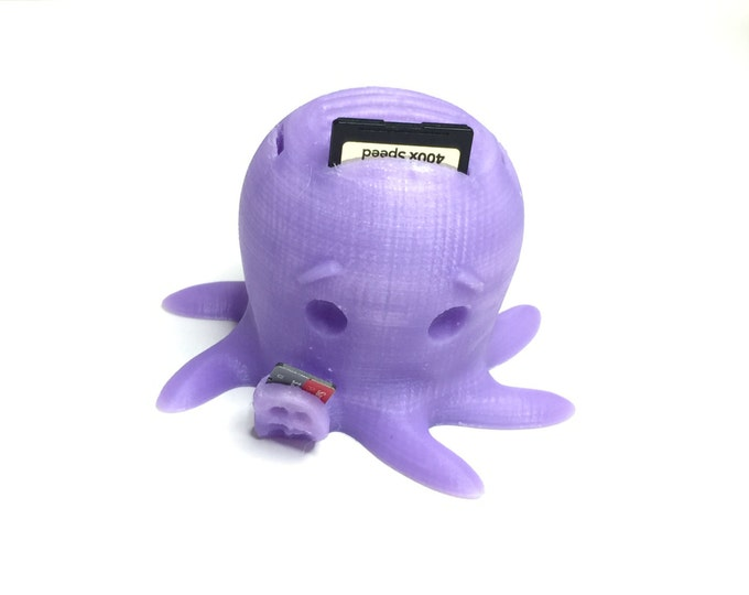 Octopus SD Card Holder | Fits 6 SD Cards and 3 Micro SD Cards | 3D Printed