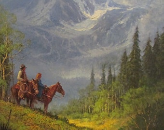 """REDUCED.  G. Harvey limited edition signed print, """"Reflecting His Majesty""""."""