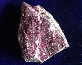 Deep Magenta Kammererite Micro-Crystals on Matrix Rare!