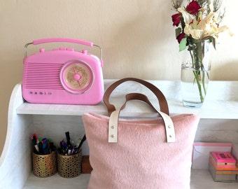 Pink Fur Tote Bag,Fur Shoulder Bag,Fur Tote Bag,Pink Tote Bag,Leather Tote Bag,Faux Fur Handbag,Pink Fur Handbag,Pink Fur Tote Bag