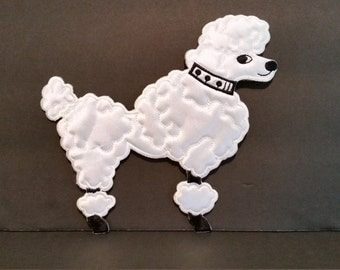French Poodle Applique
