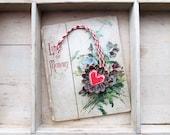 Vintage Tart Tin Heart Ornament