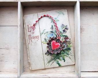 Vintage Tart Tin Heart Ornament