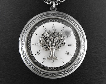Tree of Time Locket Necklace - Deluxe Tree of Time and Life by COGnitive Creations