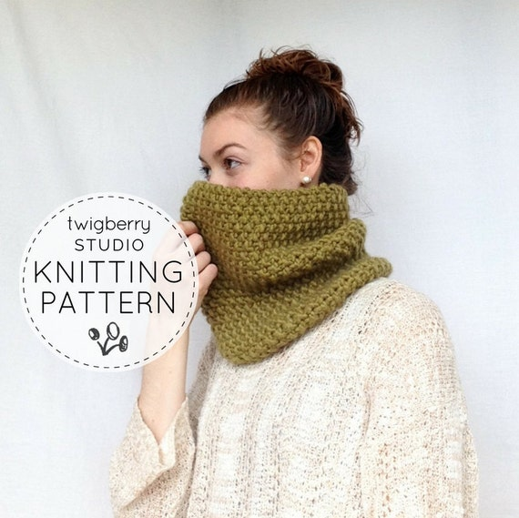 Cowl Knitting Pattern Chunky Knit Cowl Pattern Infinity Scarf