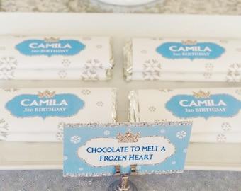 food tents - food labels - printable - EDITABLE - Frozen Birthday - Winter Birthday - Winter Wonderland - diy - INSTANT DOWNLOAD