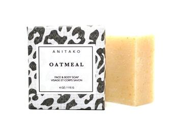 O A T M E A L - Milk + Honey + Oatmeal, Unscented Soap, Face and Body Soap, Natural Soap, Handmade Soap, Milk Soap