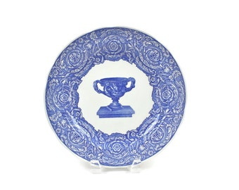 Vintage Spode Plate - Blue Transferware, Blue Room Collection Plate, Warwick Vase, English Transferware, Collector Plate, c1990s