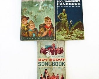 Vintage Boy Scout Books | Scouting Books | Boys Books | Scout Master Book | Scouting Ephemera | Camping