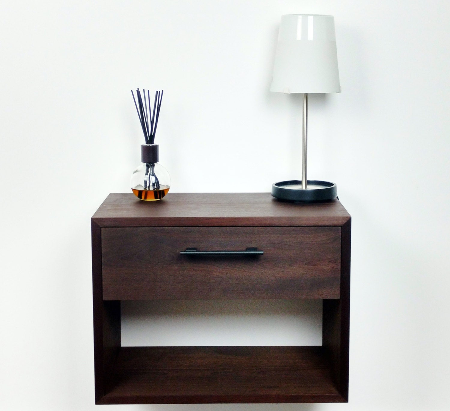 Floating Nightstand / Nightstand with Drawer / Nightstand