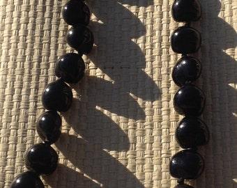 Kuikui Nut Lei Or Necklace. Hawaiian Black Kukui Lei. Perfect For Luau, Dancers, Wedding, Gifts, Beach Wedding, Or Any Polynesian Events.
