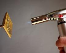 Custom Logo Branding Iron- made of brass + Butane Gas Welding Torch Flame Gun  1300C 2500F ***Delivery 1-2 days DHL Express***
