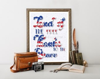 4th of July Printable, July Fourth Decoration, 4th of July Decor, Patriotic Printable, Patriotic Decor, 4th of July Digital Download 0061