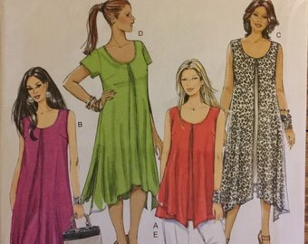 """OOP 5655 Butterick (2011) """"Fast and Easy"""" misses' top, dress, and pants. Size 8-10-12-14-16.  Complete, unused, FF. Excellent condition."""