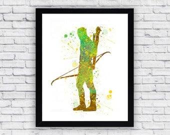 Legolas Lord Of The Rings Watercolor print, Legolas Lord Of The Rings  Printable Wall Art, Legolas Lord Of The Rings  poster