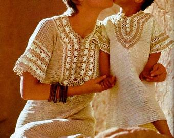 Crochet Caftan Dress Vintage Crochet Pattern Download