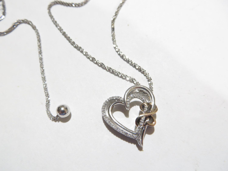 sale jane seymour open heart diamond sterling by. Black Bedroom Furniture Sets. Home Design Ideas
