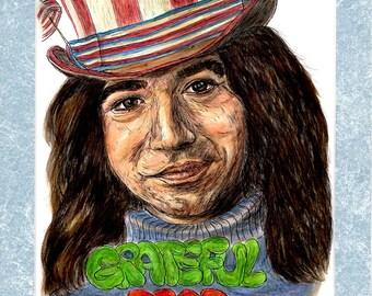 Jerry Garcia Grateful Dead Rock Star Legend Portrait 51