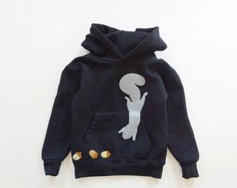 Squirrel Hoodie : 'A Pocket Full Of Acorns', Toddler Boy Hoodie, Autumn Hoodie