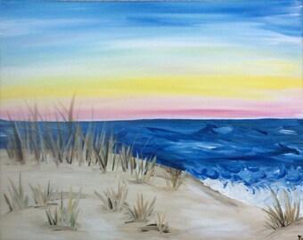 Acrylic dunes painting