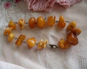 Vintage Amber bracelet 22.5 cm long