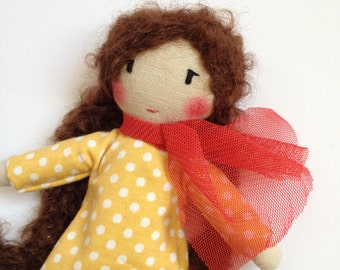 JANE mini - Unique doll to be dressed with scarf
