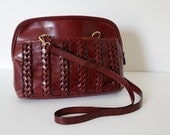 Etienne Aigner Leather 1970s Braided Purse Shoulder Bag Vintage Woman's Retro Purse Affordable Vintage Leather