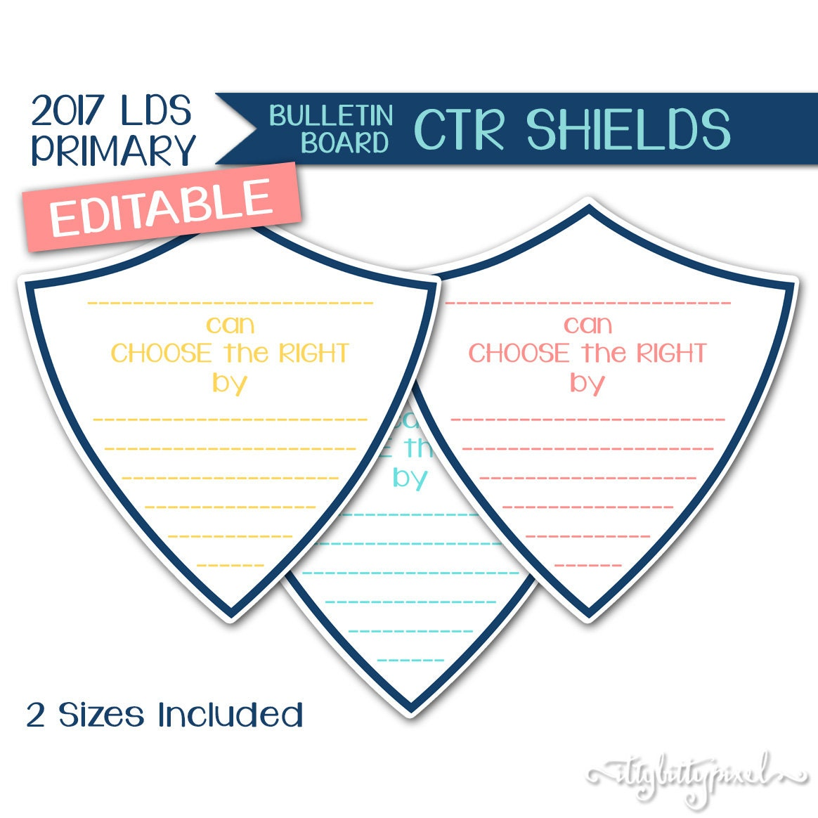 bulletin board ctr shields lds primary 2017 editable