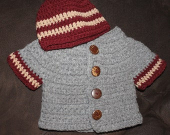 Little Gentleman Sweater Set