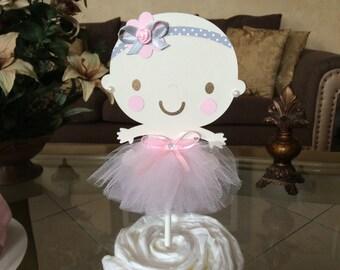 Baby girl cake topper/Girl baby shower cake topper/Ballerina cake topper/Ballerina baby shower cake topper/Elegant Cake topper