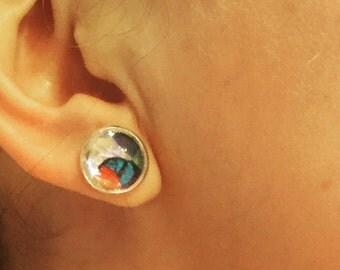 Butterfly collage earrings