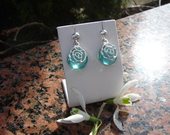 Earrings with Blue Topaz 925 Silver! So beautiful!