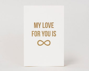 Infinite Love Modern Greeting Card