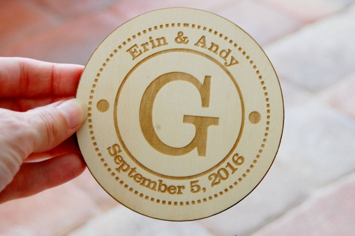 Personalized Coasters Wedding Gift: Engraved Wood Coasters Personalized Drink Coaster Custom