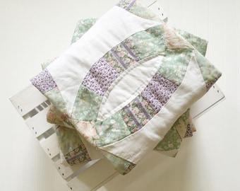 Quilt layer,photo prop,newborn photography,basket stuffer,Vintage quilt