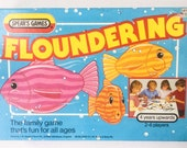 Vintage Floundering Game The Merry Game of Floundering Spears Flounders Game 11 Flounders Only 1984 00091