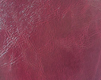 Wine Distress Upholstery Faux Leather Vinyl Fabric - BTY - Bags Wallets Purses